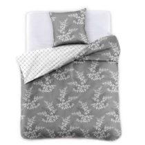 Sivé obliečky na dvojlôžko z mikrovlákna DecoKing Hyp...