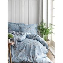 Obliečky s plachtou z ranforce bavlny na dvojlôžko Chicory Blue, 200 x ...