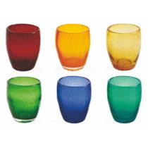 Sada 6 farebných pohárov z fúkaného skla Villa d'Este Rainbow, 2...