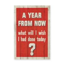 Drevená ceduľa Really Nice Things Year, 60×40 cm