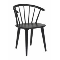 Čierna dubová stolička Rowico Iddun