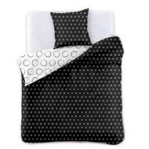 Čierno-biele obojstranné obliečky na jednolôžko z mi...