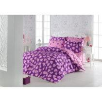Obliečky s plachtou s prímesou bavlny na dvojlôžko Pari Purple...