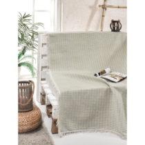 Bavlnený pléd cez posteľ Cizgill Mint, 180 x 220 cm