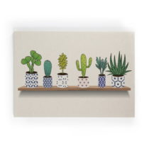 Obraz na plátne Really Nice Things Lino Cactus Shelve, 50 × 70 c...