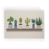 Obraz na plátne Really Nice Things Lino Cactus Shelve, 50×70 c...