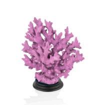 Fialová dekoratívna soška korálu The Mia Coral, 25 x 23 cm