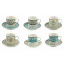 Sada 6 porcelánových šálok na espresso s tanierikmi Villa d'Est...