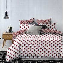 Bielo-červené obojstranné obliečky na jednolô&#x1...