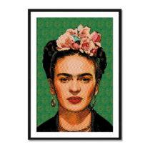 Nástenný obraz zo sambového dreva Madre Selva Frida Draw, 40&am...