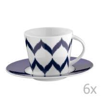 Sada 6 porcelánových hrnčekov na čaj s tanierikmi Mertios, 200...
