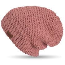 Ružová ručne háčkovaná čiapka DOK...