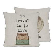 Obojstranná obliečka na vankúš Really Nice Things Travel Life,...