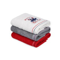 Sada 3 bavlnených uterákov na ruky do kúpeľni, 90 x 50 cm