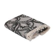 Černo-sivý uterák Yaprak, 180 x 100 cm