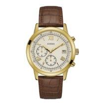 Pánske hodinky s remienkom z ušľachtilej kože v hnedej farbe ...