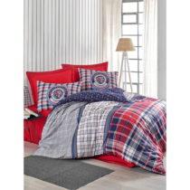 Obliečky s plachtou z ranforce bavlny na dvojlôžko Marco Red, 160 x 220...