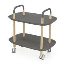 Sivý servírovací vozík na kolieskach Tenzo Wagon Beech