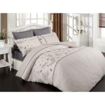 Obliečky s plachtou z ranforce bavlny na dvojlôžko Azara Pink, 200 x 22...