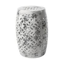 Sivá kovová ručne maľovaná stolička RGE Nou...