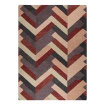 Červeno-sivý ručne tkaný koberec Flair Rugs Salon, 200 &#x...