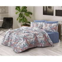 Obliečky s plachtou z ranforce bavlny na dvojlôžko Palm, 160 x 220 cm