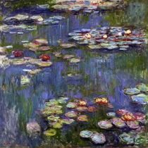 Reprodukcia obrazu Claude Monet - Water Lilies 3, 70×70 cm