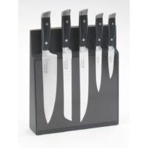 Sada 5 nožov z antikoro ocele s magnetickým stojanom Jean Dubost Massif