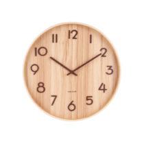 Svtlohnedé nástenné hodiny z lipového dreva Karlsson Pure Large,...