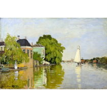 Reprodukcia obrazu Claude Monet - Houses on the Achterzaan, 90 × 60&#...