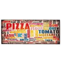 Vysokoodolný kuchynský koberec Floorita Pizza, 60 × 110 cm