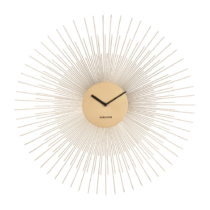 Nástenné hodiny v zlatej farbe Karlsson Peony Large, ø 60 cm