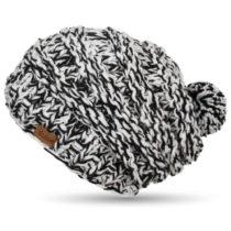 Ručne pletená čapica DOKE B&W