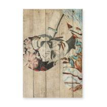 Nástenná ceduľa z borovicového dreva Madre Selva Collage of Fri...