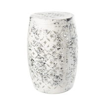 Biela kovová ručne maľovaná stolička RGE Nour, &...
