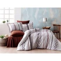 Obliečky s plachtou z ranforce bavlny na dvojlôžko Zaur Brown, 200 x 22...