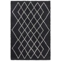 Antracitovosivý koberec Elle Decor Passion Bron, 80×150 cm