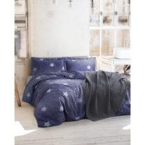 Obliečky s plachtou z ranforce bavlny na dvojlôžko Tstar Blue, 160 x 22...