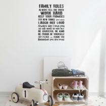 Vinylová samolepka na stenu Really Nice Things Family Rules, 60 × 40 cm