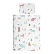 Set detskej bavlnenej prikrývky s vankúšom BELLAMY In the Wood, 80&#...