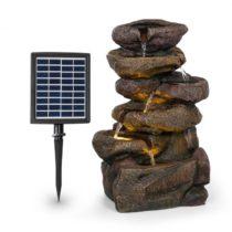 Blumfeldt Savona, solárna fontána, 2,8 W, polyresin, 5 hod., akumulátor, LED osvetlenie, vzhľad kame...