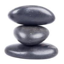 Lávové kamene inSPORTline River Stone 8-10 cm - 3 ks