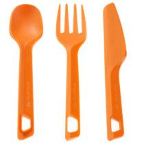 QUECHUA Plastový Príbor Oranžový 3 Ks