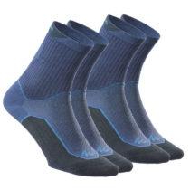 QUECHUA Ponožky Nh500 High 2 Páry