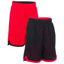TARMAK šortky Rev Jr čierno-červené