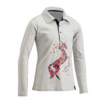 FOUGANZA Dievčenské Polo Tričko140 Sivé