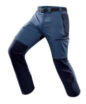 FORCLAZ Pánske Nohavice Trek 500 Modré