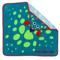 NABAIJI Detský uterák modrý s potlačou