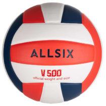 ALLSIX Lopta V500 Bielo-modro-červená