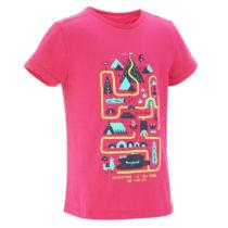 QUECHUA Detské Tričko Mh100 Ružové